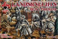 Landsknechts Heavy Pikemen XVI Century (24) 1/72 Red Box Figures