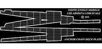 USS Arizona Anchor Chain Deck Plates for TRP 1/200 White Ensign Models