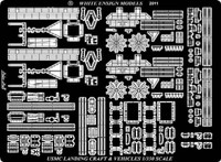 USS Wasp LHD-1 Vehicles & Landing Craft Detail Set for MRC Gallery 1/350 White Ensign Models