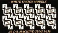 USN .50cal Water-Cooled MG Single (20pcs) 1/350 White Ensign Models