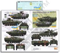 Ukrainian AFVs Ukraine-Russia Crisis Pt.1 BMP1, BMP2 & T64BV 1/35 Echelon Decals