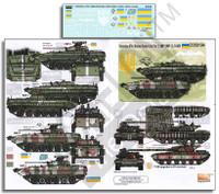 Ukrainian AFVs Ukraine-Russia Crisis Pt.2 BMP1, BMP2 & T64BV 1/35 Echelon Decals