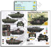 Ukrainian AFVs Ukraine-Russia Crisis Pt.3 BMP2 & T64BV 1/35 Echelon Decals