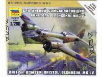 British Bristol Blenheim Mk.IV Bomber (Snap Kit) 1/200 Zvezda