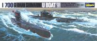 German U-Boat 7C/9C Submarine 1/700 Hasegawa