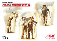 WWI ANZAC (Australian & New Zealand) Infantry 1915 (4) 1/35 ICM Models