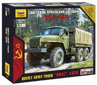 Ural 4320 Soviet Army Truck (Snap Kit) 1/100 Zvezda