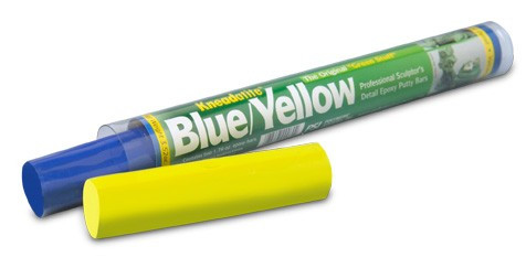 Kneadatite Green Stuff Blue Yellow Two Part Epoxy Putty