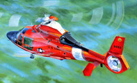 HH65C Dolphin US Coast Guard Helicopter 1/35 Trumpeter