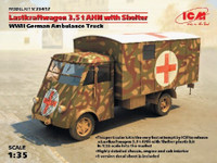 WWII Lastkraftwagen 3,5t AHN w/Shelter German Ambulance Truck 1/35 ICM Models