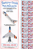 A-7E Corsair II VA86 Sidewinders 1977-81 & Iranian Hostage Rescue Mission 1/350 Starfighter Decals