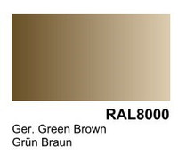 German Green Brown RAL 8000 Surface Primer 200mL Bottle Vallejo