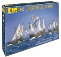 1492 Christopher Columbus Sailing Ships: Santa Maria, Pinta & Nina w/Paint & Glue 1/75 Heller