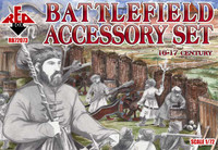 Battlefield Accessory Set VI-XVII Century 1/72 Red Box Figures