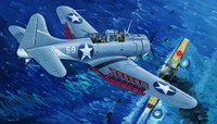 US Navy SBD-3 Dauntless Midway Clear Edition 1/32 Trumpeter