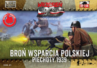 WWII Polish Infantry Support Weapons w/15 Crew 1/72 First to Fight Models