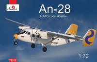 Antonov An28 NATO Code Twin Engine Light Turboprop Transport and Passenger Aircraft 1/72 A-Model