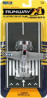 P-51 Checkered Nose WWII Plane Runway 24