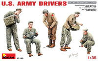 WWII US Army Drivers (5) 1/35 Miniart