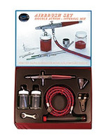 Deluxe Extra Fine Airbrush Set (VL-SET) Double Action Paasche Airbrush