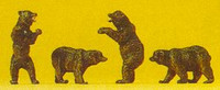 Brown Bears (4) N Scale Preiser Models