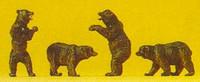 Brown Bears (4) N Scale Preiser Models
