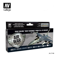 Air War Series: USAF Gray Scheme Colors 70's to Present Paint Set Vallejo