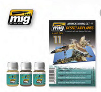 Desert Airplanes Panel Line Wash Set Ammo of Mig Jimenez