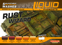 Rust Wizard Weathering Liquid Pigments Set (6 22ml Bottles) Lifecolor