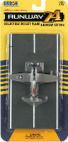F4U Corsair WWII Plane (Silver) Runway 24