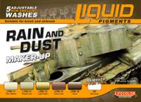 Rain & Dust Weathering Liquid Pigments Set (6 22ml Bottles) Lifecolor