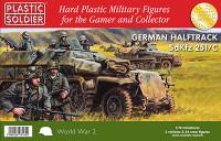 WWII German SdKfz 251/C Halftrack (3) & Crew (21) 1/72 Plastic Soldier