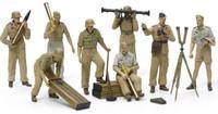 German Artillery Crew Africa Corps Luftwaffe (8) 1/35 Tamiya