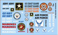 Armed Services Military Logos 1/24-1/25 Gofer Racing Decals