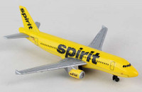 "Spirit Airlines Airbus A320 (5"" Wingspan) (Die Cast) Real Toy"
