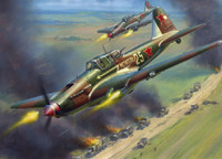 WWII IL-2 Stormovik Soviet Armored Attack Aircraft 1/72 Zvezda