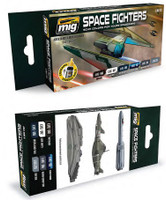 Space Fighters Sci-Fi Colors Acrylic Paint Set Ammo of Mig Jimenez