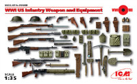 WWI US Infantry Weapon & Equipment 1/35 ICM Models