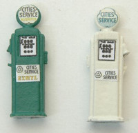 Deluxe Custom Gas Pumps, Cities Service (2) HO Scale JL Innovative