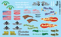 Name It - Various Race Car Names 1/24-1/25 Gofer Racing Decals