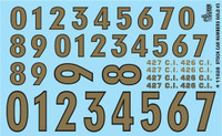 Stock Car Numbers #3 (Gold) 1/24-1/25 Gofer Racing Decals