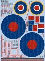 Avro Lancaster General Markings, Stenciling RAF Roundels & Walkways 1/32 Kitsworld Decals