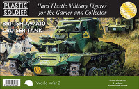 British A9/A10 Cruiser Tank (5) 15mm Plastic Soldier
