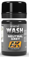 Neutral Grey Wash Enamel Paint 35ml Bottle AK Interactive