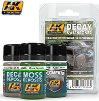 Decay & Abandoned Weathering Paint Set (148, 675, 676,) AK Interactive