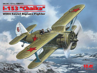 WWII Soviet I-153 Chaika Biplane Fighter 1/48 ICM Models