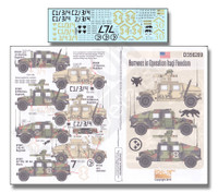 Humvees in Operation Iraqi Freedom 1/35 Echelon