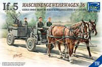 German If.5 Horse-Drawn MG Wagon & ZwillingsL 36 Gun with Crew 1/35 Riich