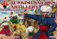 Turkish Sailors Artillery XVI-XVII Century (20) 1/72 Red Box Figures