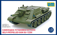 WWII T-34/76 Soviet Tank with SU-122 Self-Propelled Gun 1/72 UniModels